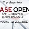 Case Open 2016. Forum Strategii Marketingowej Już 14 kwietnia w Warszawie!